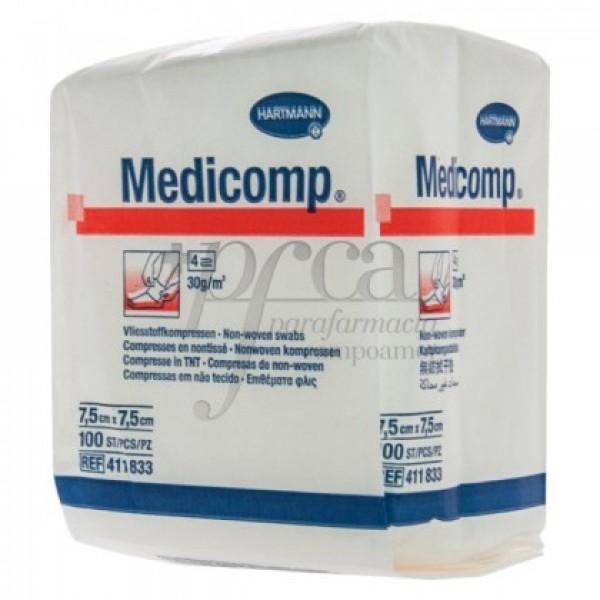 MEDICOMP COMPRESAS NO ESTERILES 7,5X7,5CM 100U