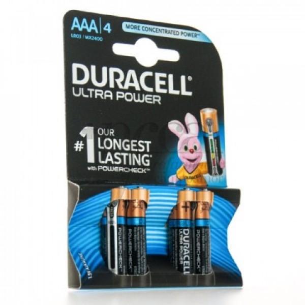 DURACELL ALCALINA ULTRA POWER AAA LR03 4U
