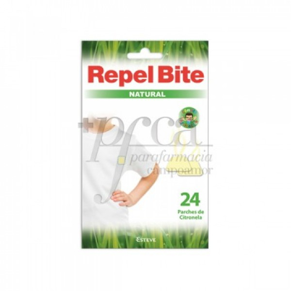 REPEL BITE NATURAL 24 PARCHES CON CITRONELLA