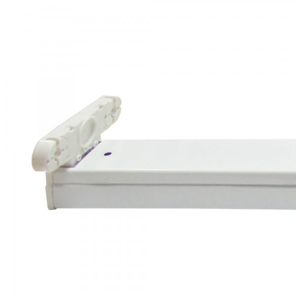 Regleta ip20 p/2tubos led  9w.60cm