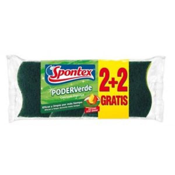 Spontex poder verde con esponja 2+2