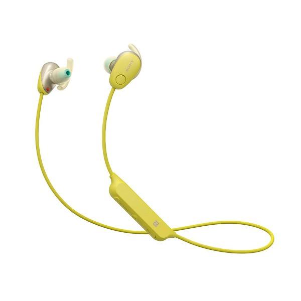 Sony wi-sp600 amarillo auriculares inalámbricos bluetooth nfc noise cancelling micrófono integrado con función manos libres