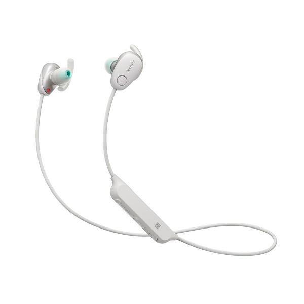 Sony wi-sp600 blanco auriculares inalámbricos bluetooth nfc noise cancelling micrófono integrado con función manos libres