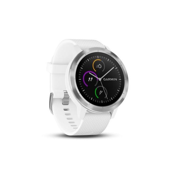 Garmin vivoactive 3 plata correa blanca smartwatch gps bluetooth apps deportivas frecuencia cardíaca garmin pay