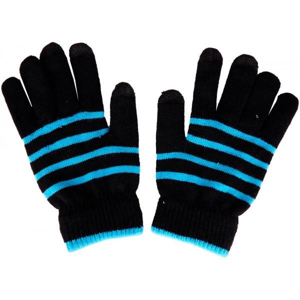 Akashi guantes táctiles unisex talla grande  negro y azul especiales para pantallas