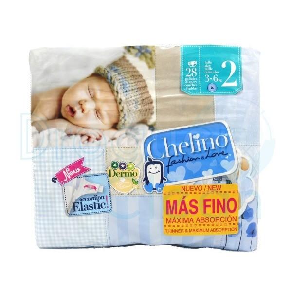 CHELINO LOVE Pañales  Talla 2 Bolsa  28 Uds. 3-6 Kg