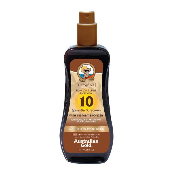 Australian gold spf10 with instant bronzer spray gel 237ml vaporizador