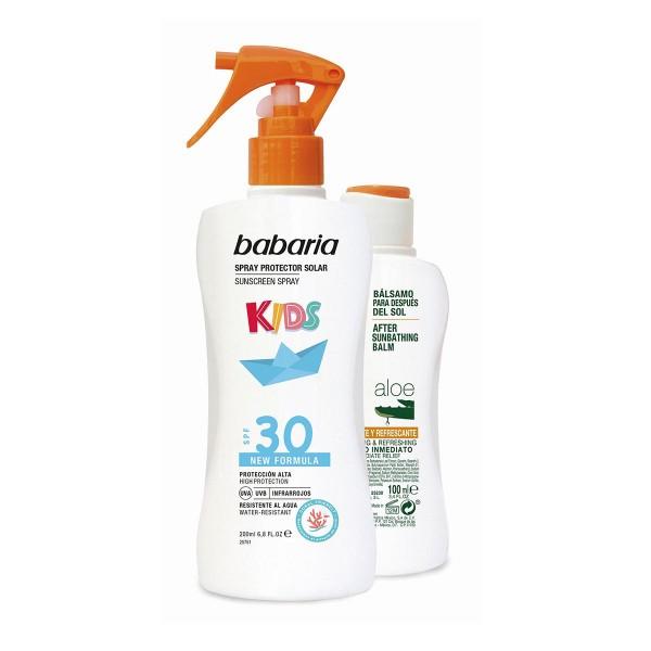 Babaria kids spray protector solar spf30 200ml + aloe vera balsamo 100ml