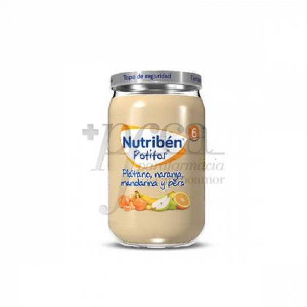 NUTRIBEN PLATANO NARANJA MANDARINA Y PERA 235 G