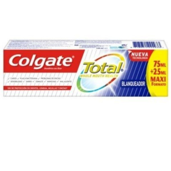 Colgate dentífrico Blanqueador Avanzado 75 ml + 25 ml GRATIS