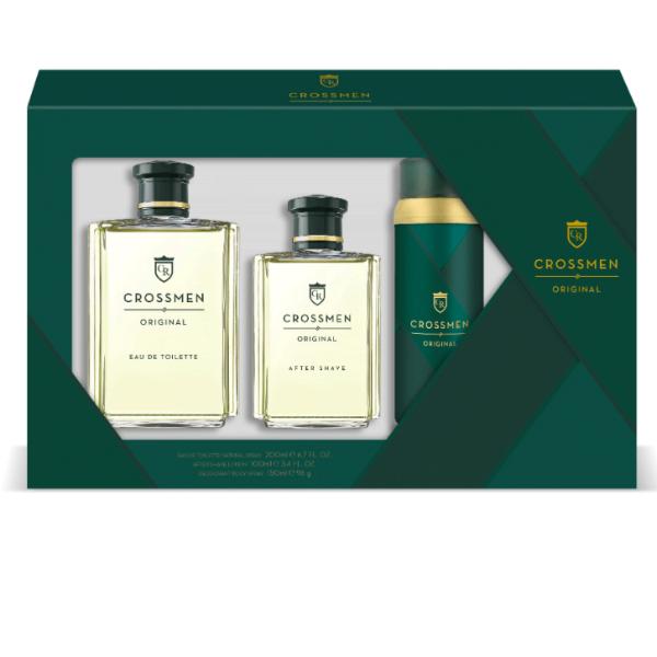 Crossmen set Hombre Original EDT 200 ml + Loción Aftershave 100 ml + Desodorante spray 150 ml