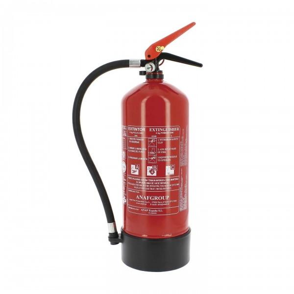 Extintor homologado polvo abc 6 kg + soporte + señal + base PVC