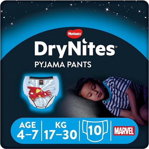 DRYNITES PYJAMA PANTS 4-7A 17-30KG 10U NIÑO
