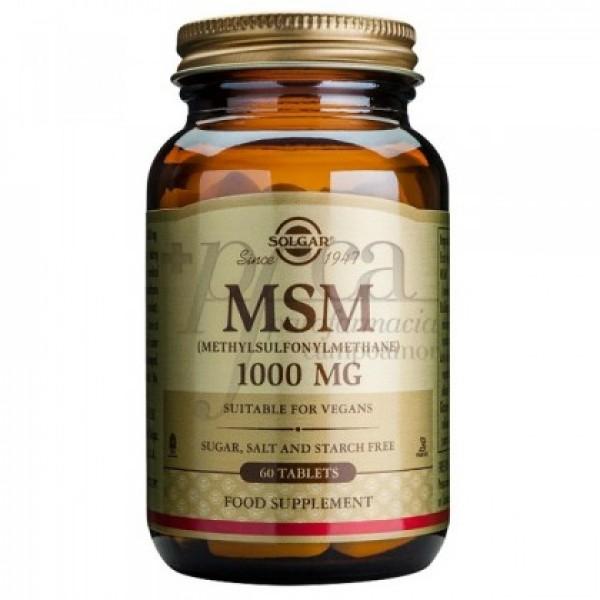MSM METILSUFONILMETANO 1000MG 60 COMPS