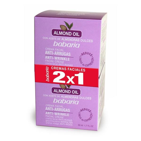 Babaria almond aceite facial crema anti-arrugas 200ml + aceite facial crema anti-arrugas 50ml