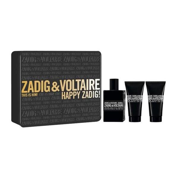 Zadig&voltaire this is him eau de toilette 50ml vaporizador + shower gel 50ml + shower gel 50ml
