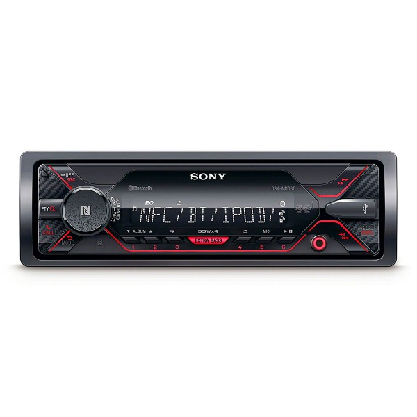 Sony dsx-a410bt receptor multimedia para coche con bluetooth nfc 4x55w pantalla lcd extrabass control por voz usb aux