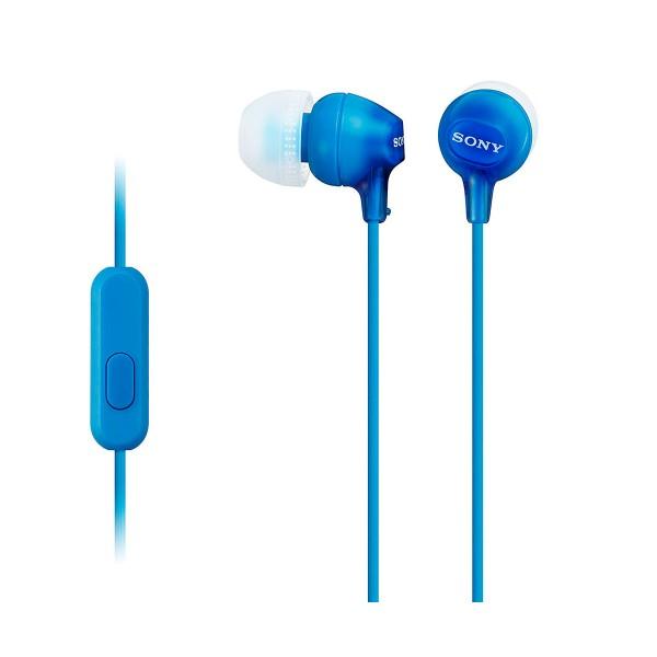 Sony mdr-ex15ap azul auriculares in-ear cómodos y ligeros 8hz a 22 khz diafragma 9mm