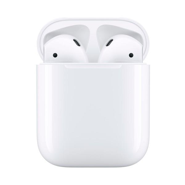 Apple airpods mv7n2ty/a estuche de carga lightning auriculares inalámbricos de alta calidad acceso directo a siri para iphone ipad e ipod