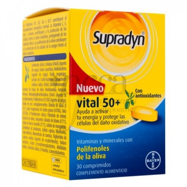 SUPRADYN VITAL 50+ ANTIOXIDANTES 30 COMPS